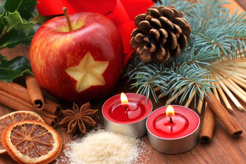 Essenze natalizie per diffusori mela cannella